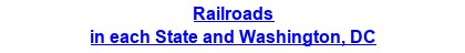 Railroads in each State and Washington, DC